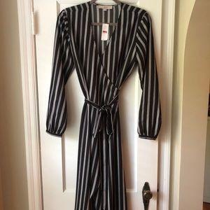 NWT Loft Midi wrap dress size small